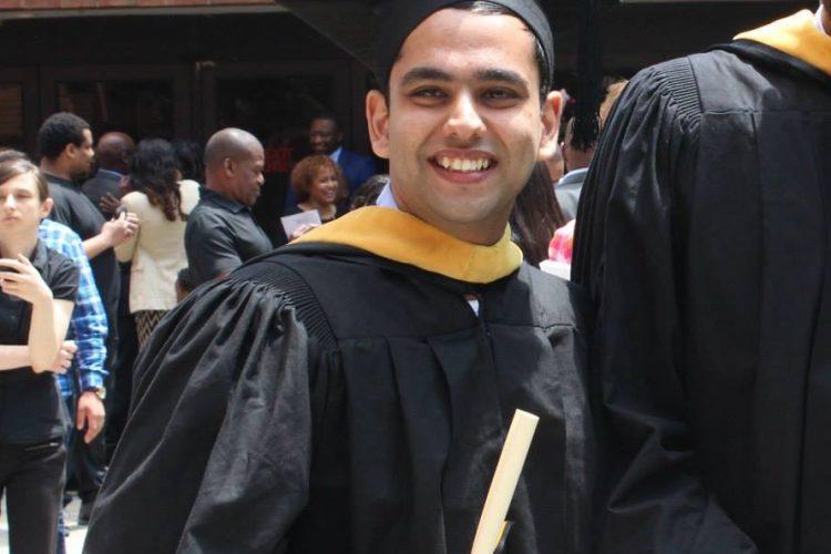 Aayush graduating from UMBC engineering management graduate program