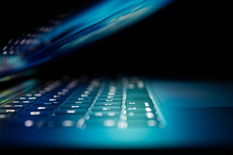 cyber hacks on a laptop